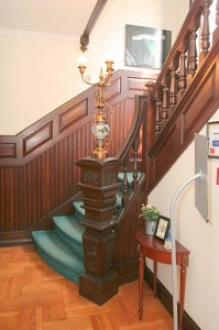 Staircase and paneling