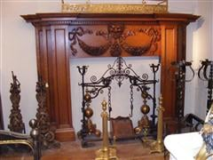 Large wooden mantel