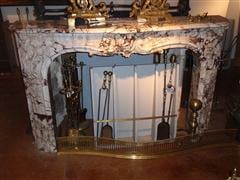 Beautiful marble mantel
