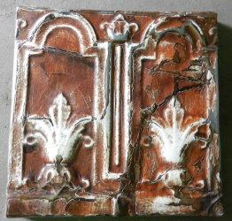Decorative tin panel