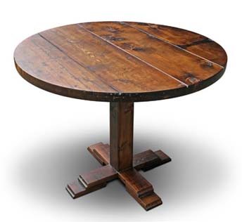 New Product Round Antique Pine Farm Table Olde Good Things
