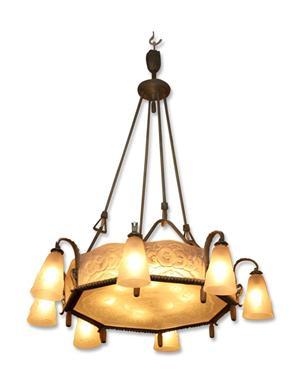 Muller Freres Art Nouveau chandelier