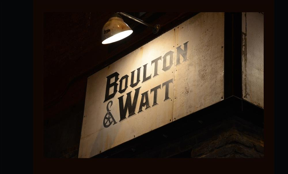 This sign is a beacon to those who love amazing food and want to be wowed by their surroundings while they eat. Boulton & Watt will give them both.