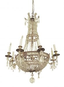 19th century French rock crystal chandelier