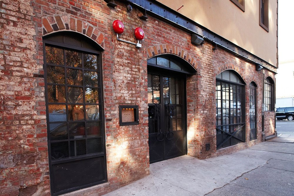 The Delicious Brick Exterior And Reclaimed Chicken Wire Glass In Doors Windows Of Restaurant Are Two Its Great Vintage Features