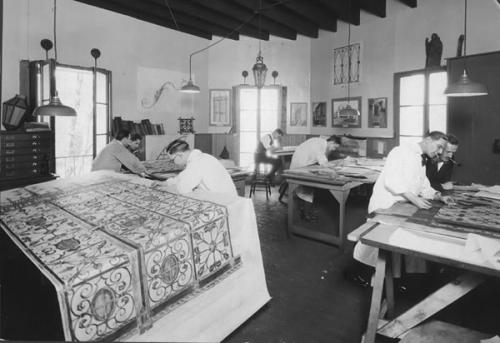 Yellin's drafting room in the early 1920's. Photo: samuelyellin.com