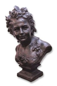 This is a large Victorian period cast iron bust of a woman with wonderful detail.