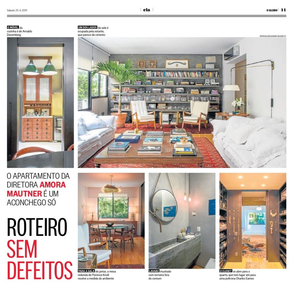 One of the articles in Casa Vogue featuring Ourico Arquitetura