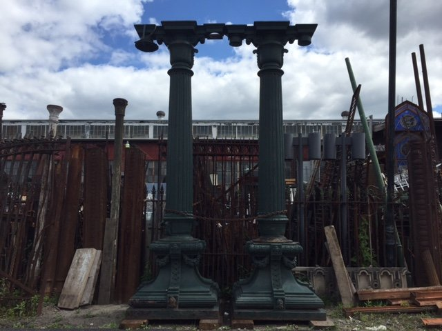 These cast iron gems now sit outside of the Scranton warehouse