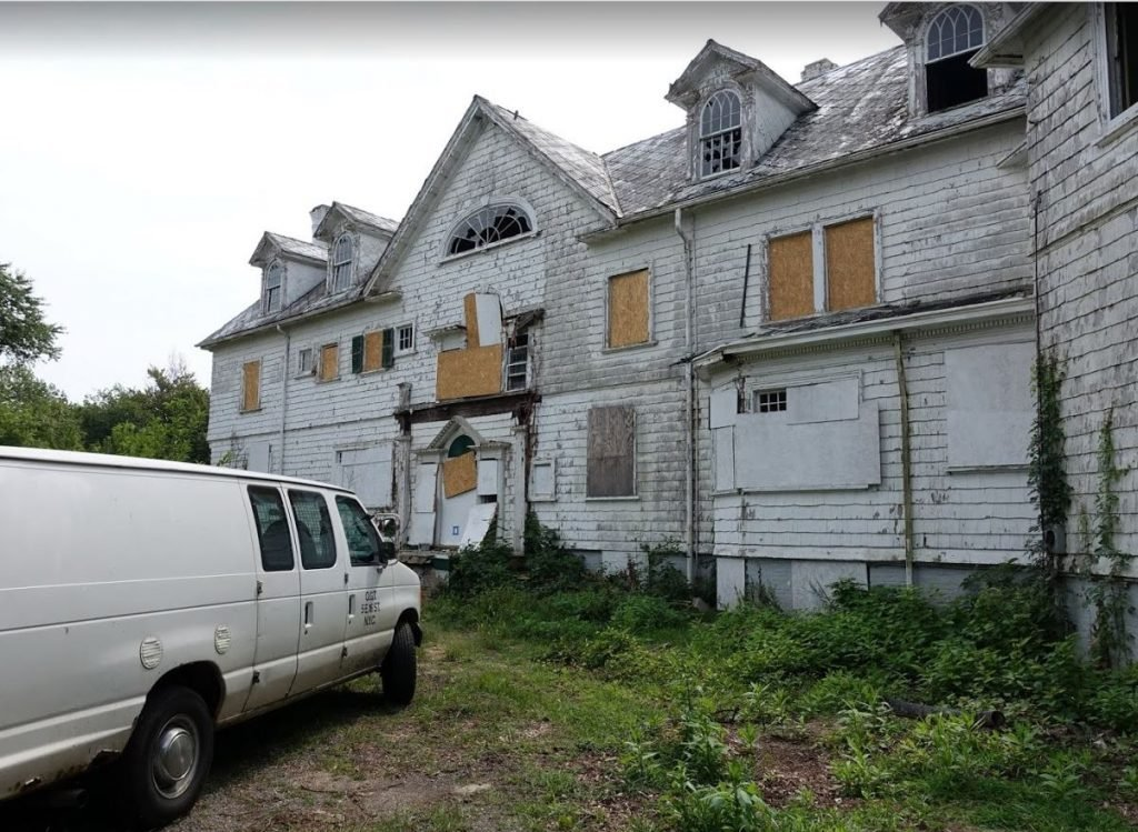 Pictured prior to demolition, this was once a beautiful mansion.