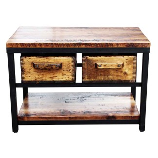 N246485-02-pine-&-steel-console-with-two-salvaged-drawers-altered-antiques