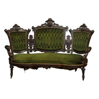 n248856-carved-mahogany-victorian-green-velvet-settee-living-room