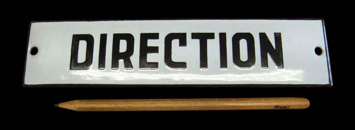 Vintage European Direction Sign