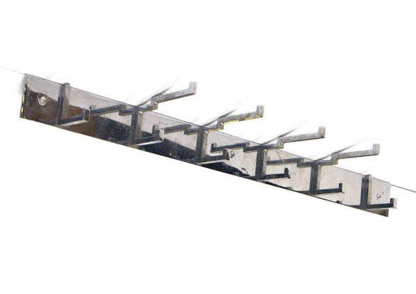 Art Deco Chrome Hook Rack