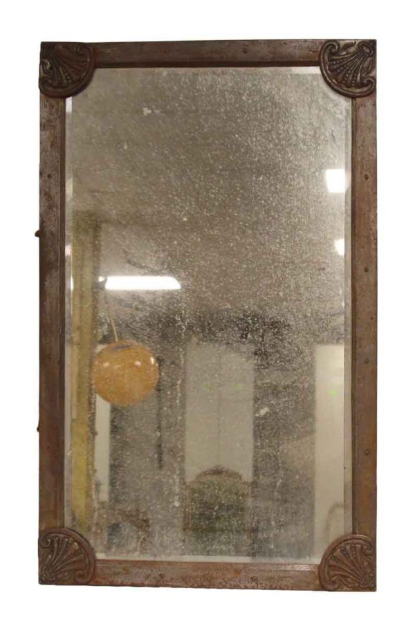 Art Nouveau Metal Framed Mirror