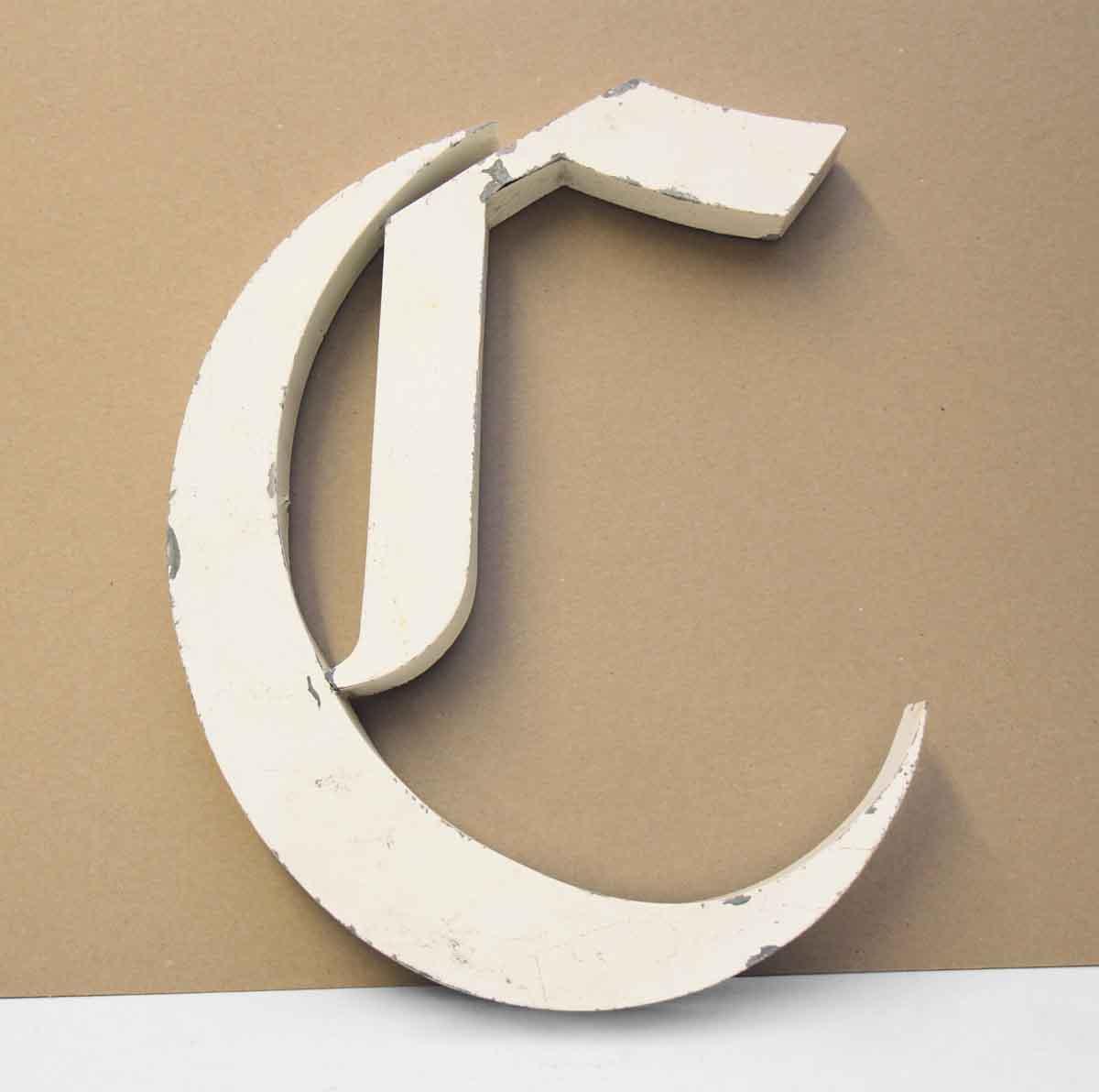 Aluminum Letter C