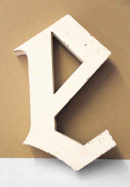 Aluminum Letter E