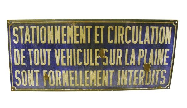 Stationement Et Circulation Sign