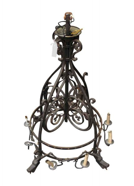 Gryphon Iron Chandelier