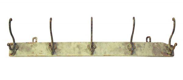 Five Hooks on Wooden Board