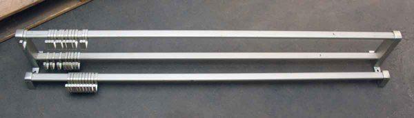 Large 1970s Aluminum Rack with Hooks