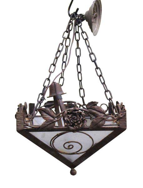 Hammered Iron Lantern Chandelier