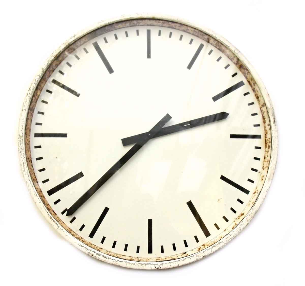 Vintage White Wall Clock Olde Good Things
