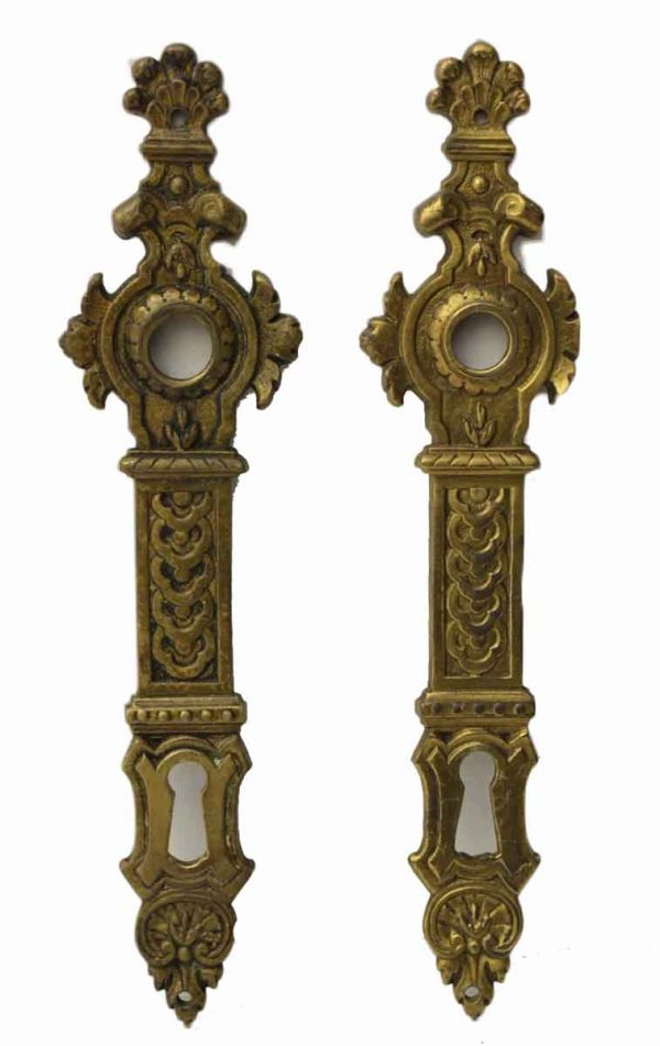 Ornate Backplates in Bronze from Europe