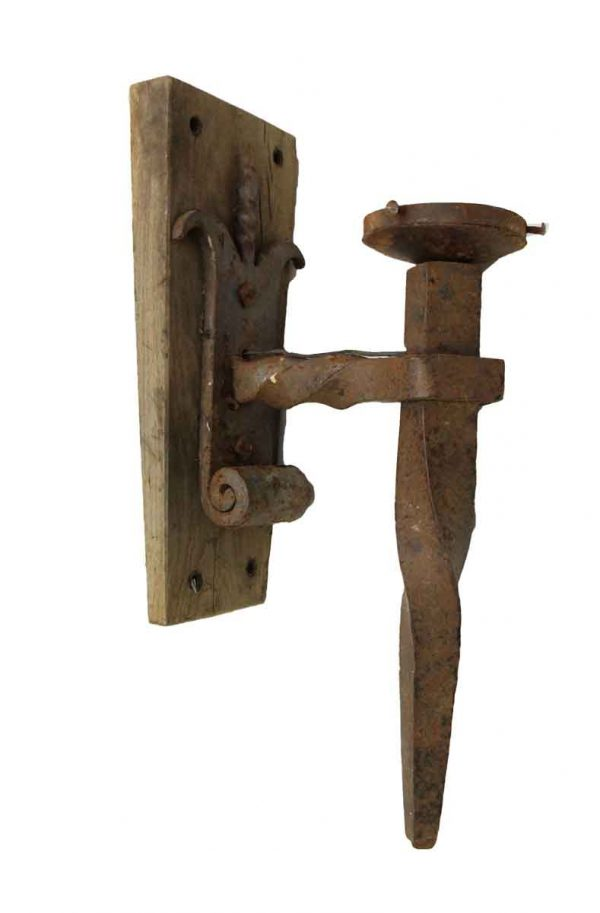 Primitive Wrought Iron Sconces from France