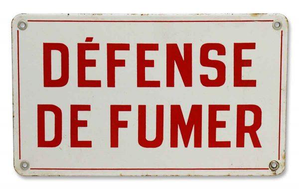 French No Smoking Sign