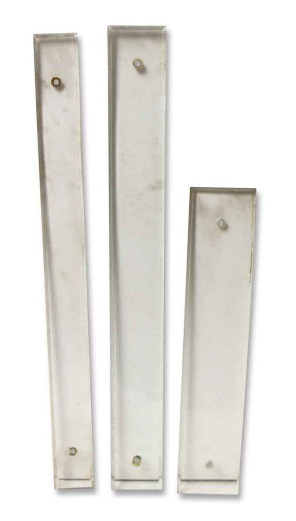 Various Sized Glass Push Plates