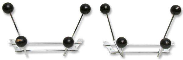 Pair of 1970s Chrome Black Ball Racks