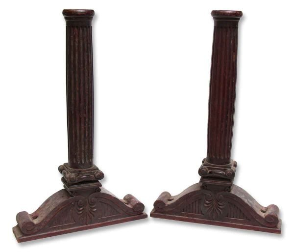 Pair of Carved Mahogany Balusters