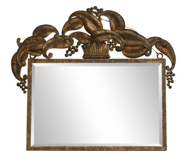 European Metal Mirror with Crown Design