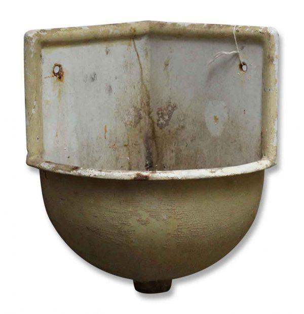 Salvaged Porcelain Corner Sink