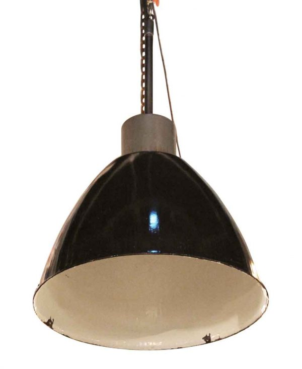 Black Enamel Industrial Pendant Light