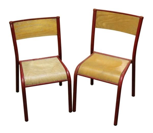 Pair of Short School Chairs