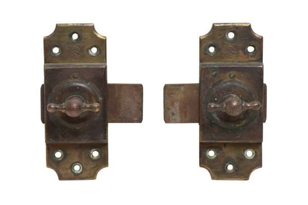 Pair of Iron Silde Bolts