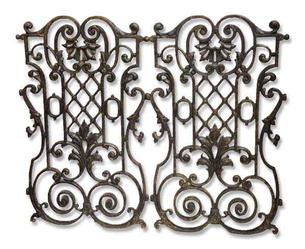 Pair of 19th Century French Cast Iron Grills