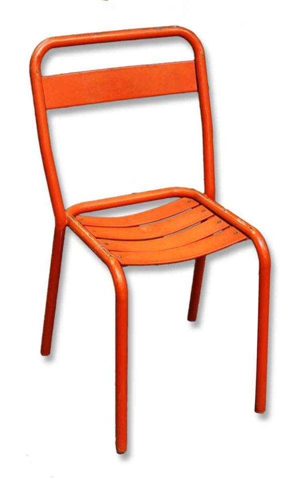 Orange Metal Chairs