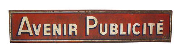 French Avenir Publicite Sign