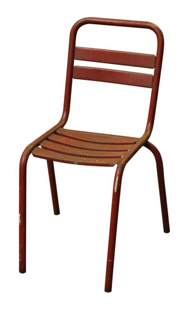 Metal Bistro Orange Tolix Chair