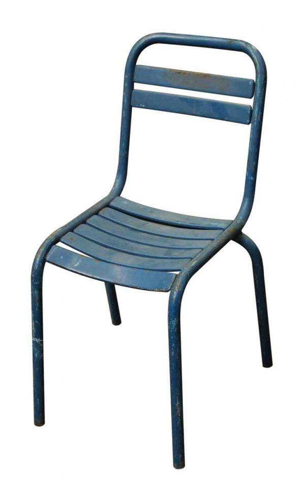 Blue Metal Tolix Bistro Chair