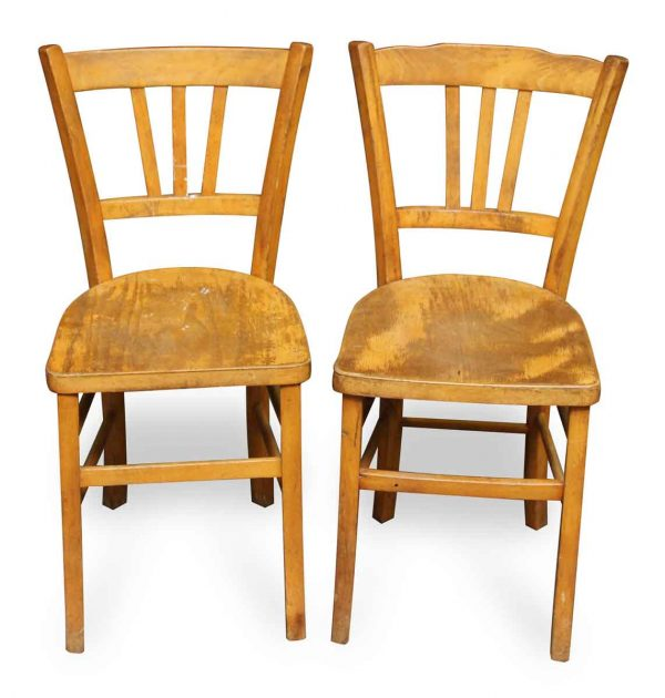 Pair of Wooden Bistro Chairs