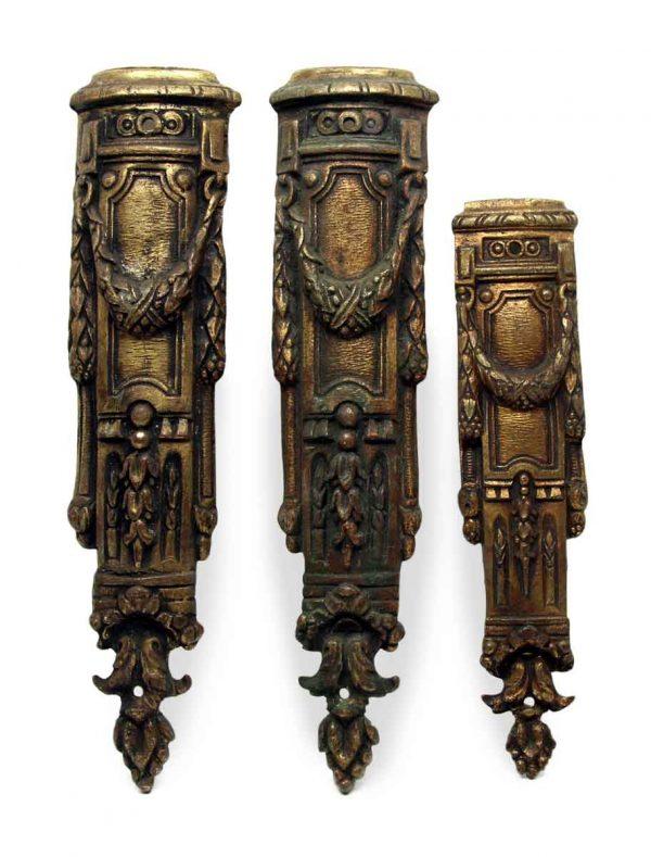 Set of Three Bronze Appliques Legs