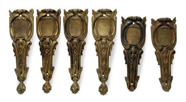 Set of Six Bronze Appliques Legs