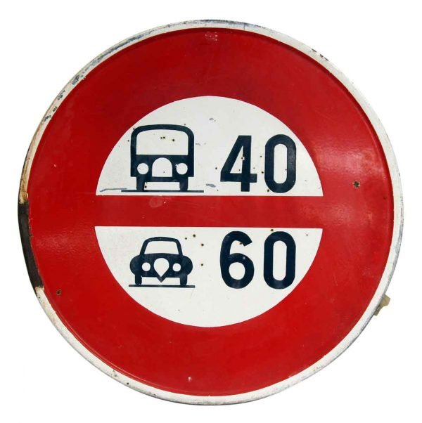 European Road Speed Sign