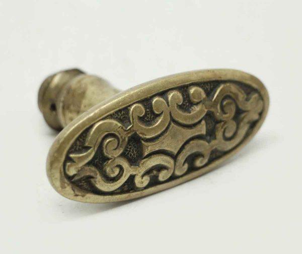 Geometrical Bronze Oval Doorknob