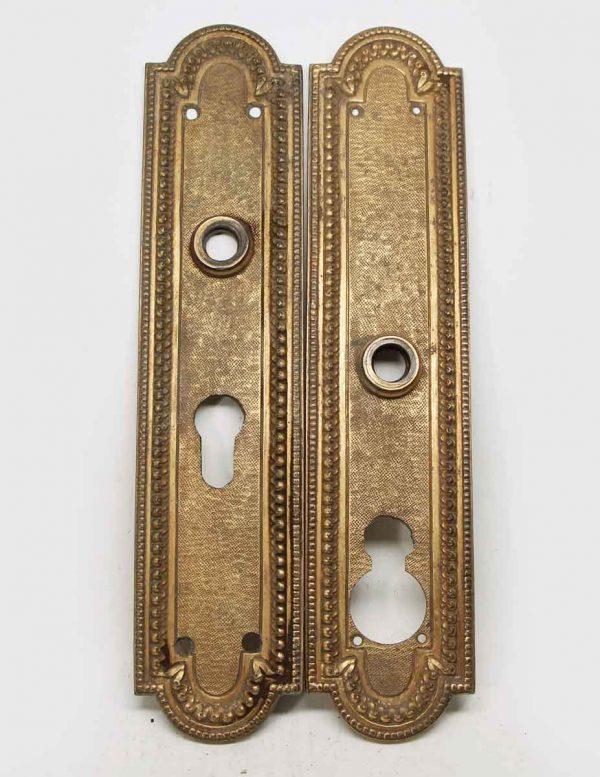 Pair of Gilded Door Plates