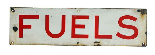 Vintage French Fuels Sign
